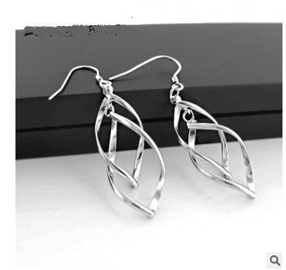 pendientes Manera- estilo de la moda minimalista pendientes de plata llanos de plata esterlina joyas oído diseño único del regalo genuino de alta gama mejor atm