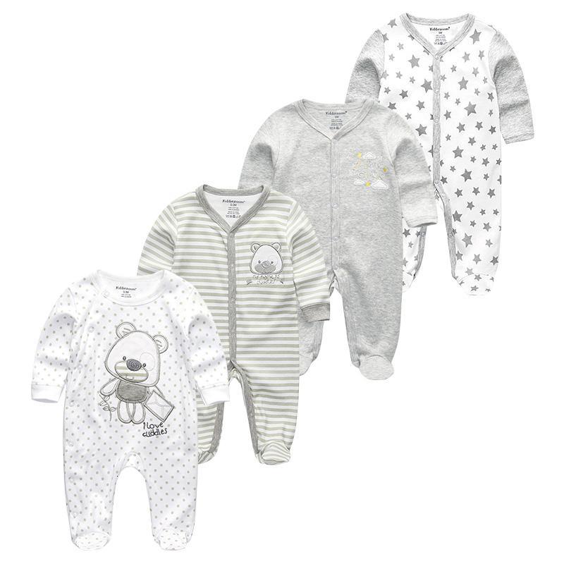 Baby Clothes Newborn Girl Boys Infant Jumpsuit 4Pcs/set Full Sleeve Warm Baby Romper Cartoon ropa de bebes 12m Toddler ClothingMX190912
