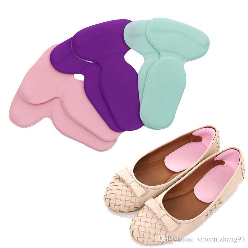 T-Shape Silicone Gel Heel Cushion Foot Care Shoe Pad Protector Liner Insole