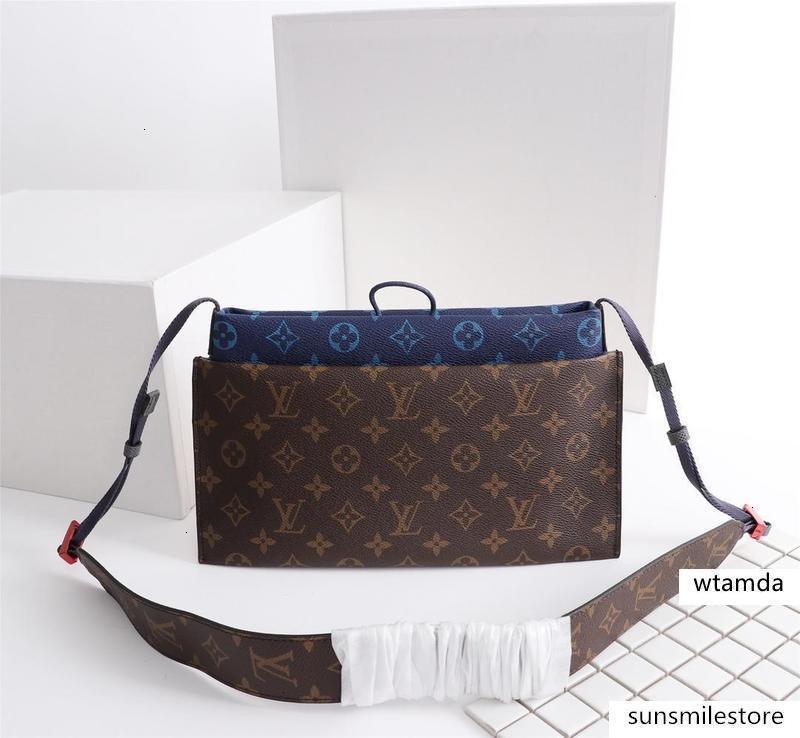 M43854 alta qualidade Medium Handbag Marca Shoulder Strap Bag Designer Men S E Mulheres S Handbag Bolsa de Ombro: 17x14x2cm