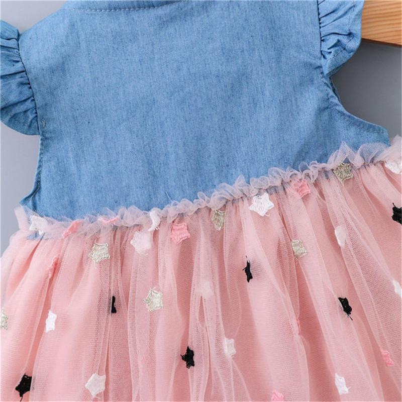 new fashionBaby Girl Summer Dress Princess Party Wedding Polka Dot Tutu Dresses Kids Dresses For Girls Cotton O-neck Sleeveless