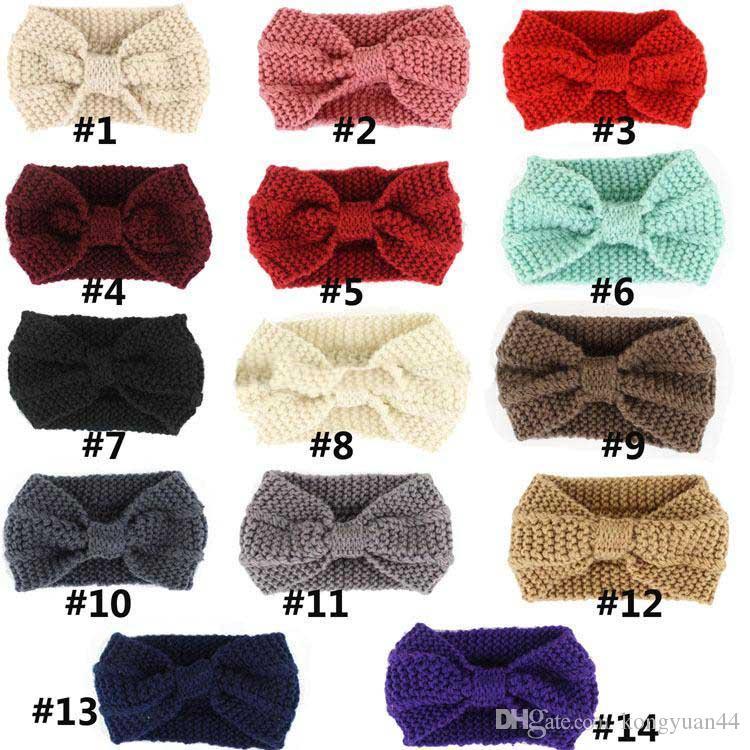 Compre Mujeres De La Señora Crochet Bow Nudo Turbante De Punto Head ...