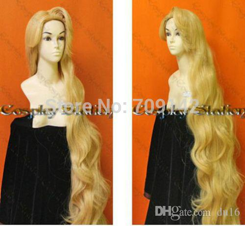 150CM Fashion Rapunzel Custom Styled Mixed blonde wig Style Curly Natural Hair wig queen brazilian made no lace front wigs