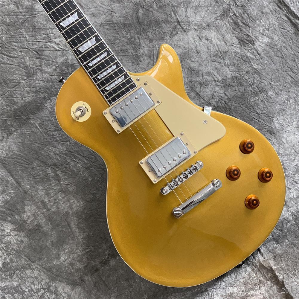 شحن مجاني ترقية! الغيتار الكهربائي، أعلى الذهب، في الأوراق المالية، يتم شحنها بسرعة، القيثارات الكهربائية، جيتارا