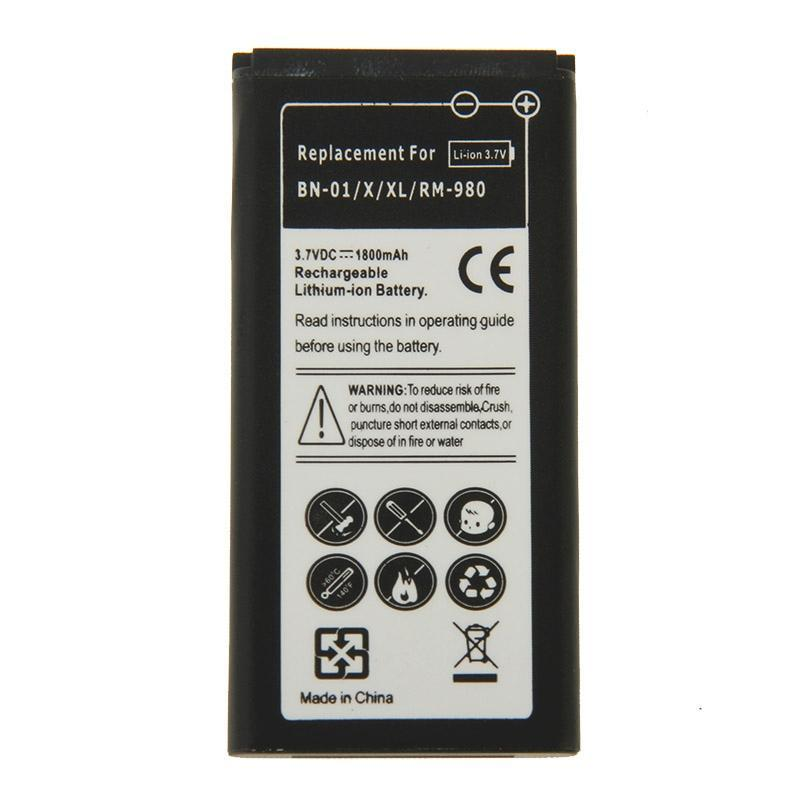 1800mAh sostituzione batteria ricaricabile Li-ion per Nokia X / XL / RM-980 / BN-01