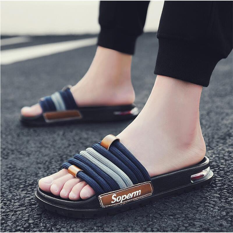 Slippers men's summer 2020 new flip flops fashion wear personality soft bottom outdoor sandals and slippers non-slip