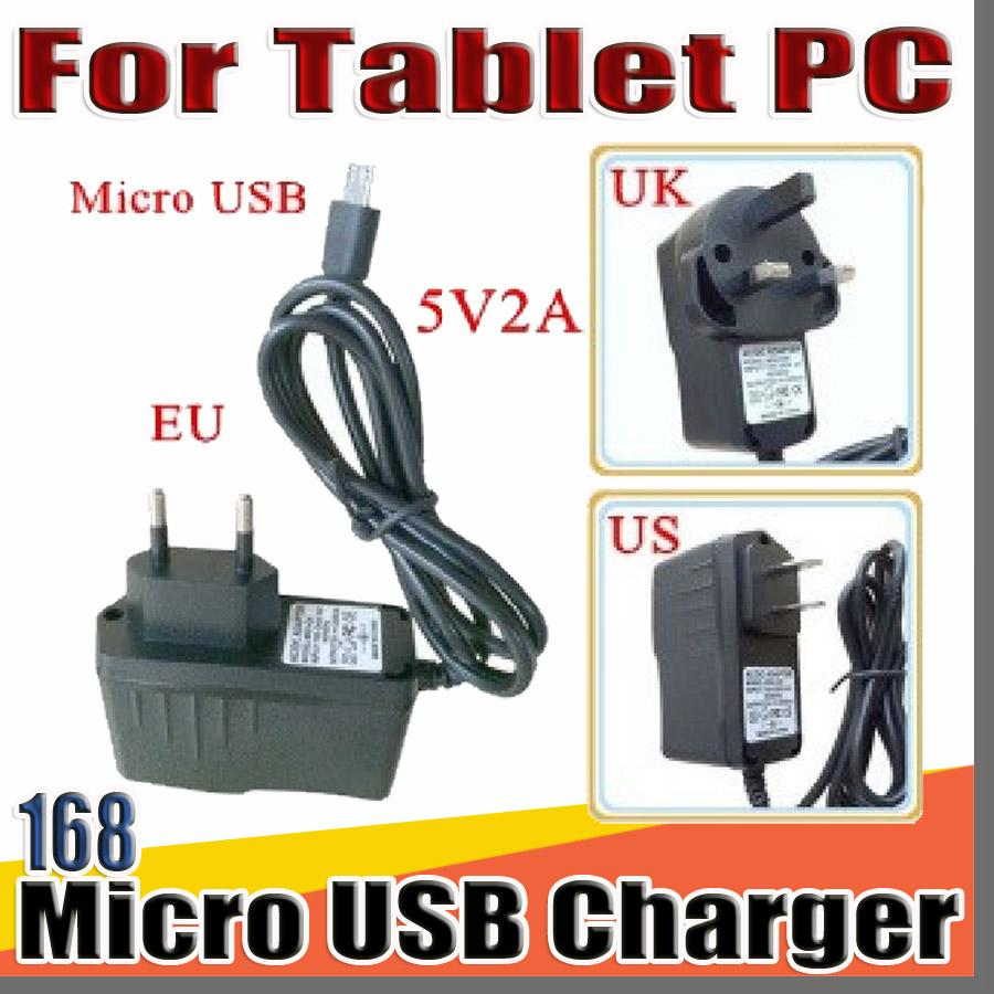 "168 Micro USB AC plugue 5V 2A Charger Converter Power Adapter US EU UK Para 7"" 10"" chamada 3G 4G MTK6582 MTK6580 MTK6592 Tablet PC telefone phablet"