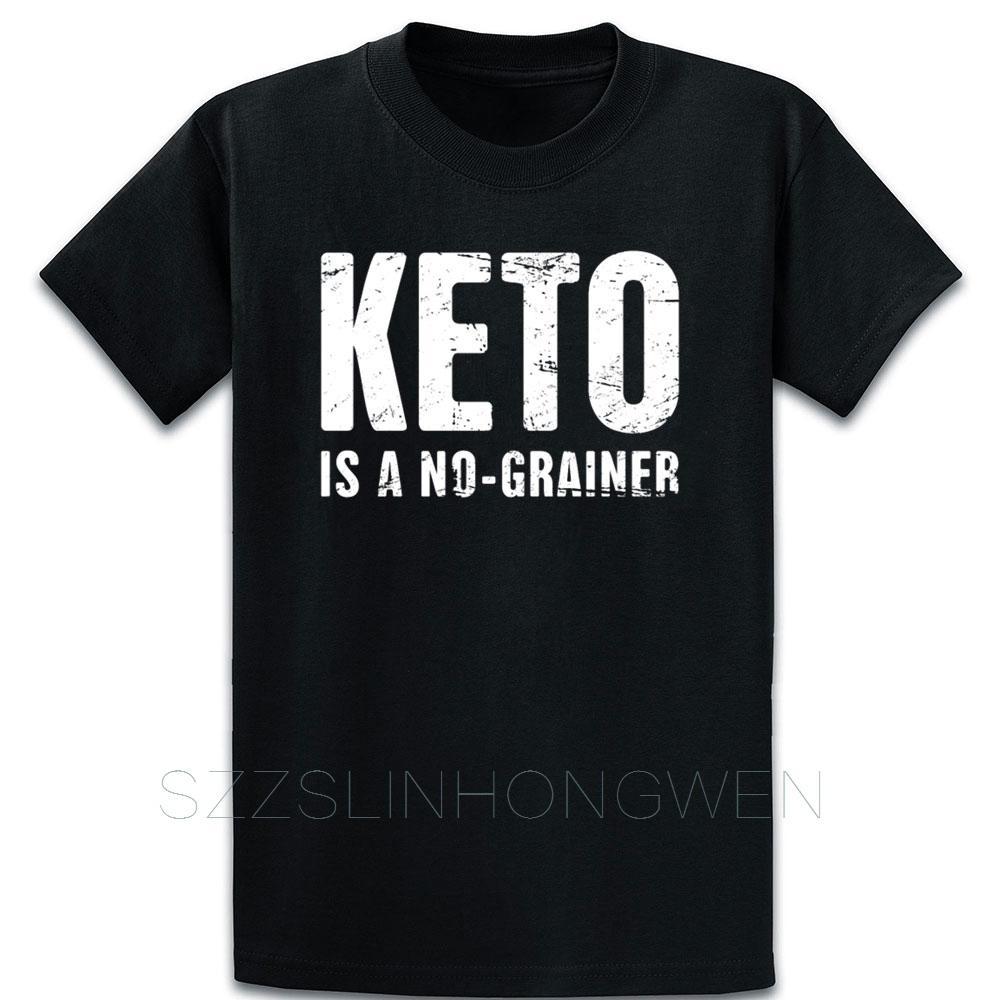 Keto è un no Grainer T shirt girocollo regalo della novità di stile di estate Immagini Tee shirt stampata maglietta autentica