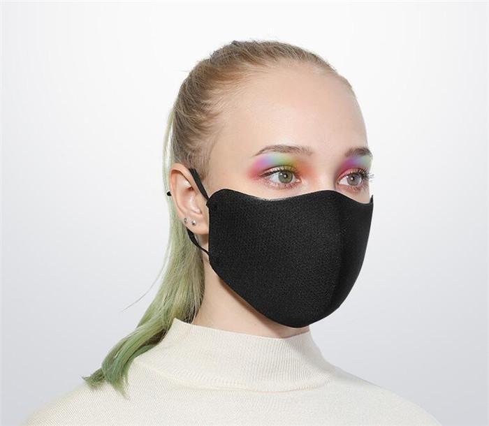 Máscara facial de algodón transpirable boca cubierta que aisla Haze prueba de polvo reutilizable lavable Mujeres Hombres boca de la máscara 10pcs