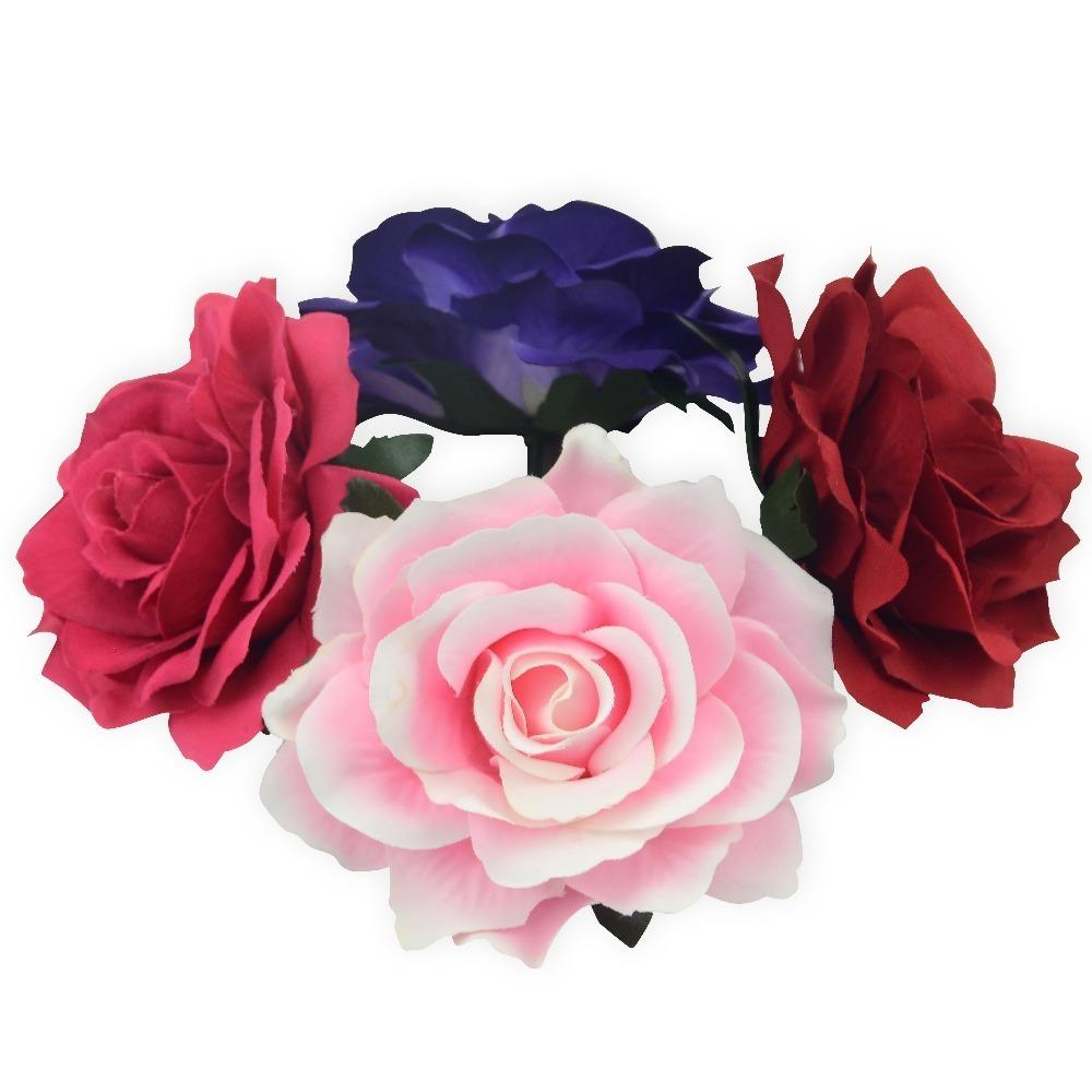 2pcs 10cm Large Artificial Rose Silk Flower Heads For Wedding Decoration Diy Wreath Gift Box Scrapbooking Craft Fake Flowers