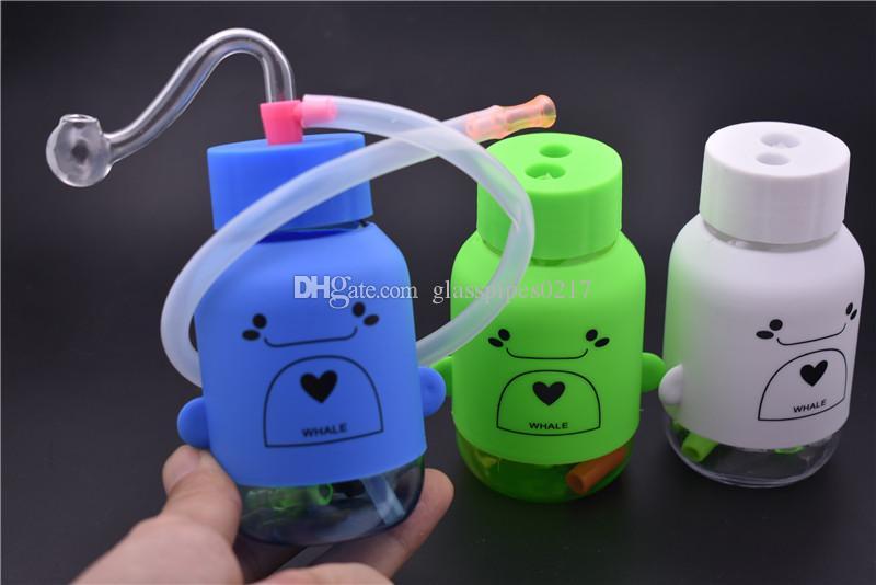 Top qualità rimovibile acrilico bruciatore a olio tubo di bong tubi di acqua con 10mm maschio vetro tubo bruciatore di olio DHL LIBERO WHOLESAEL