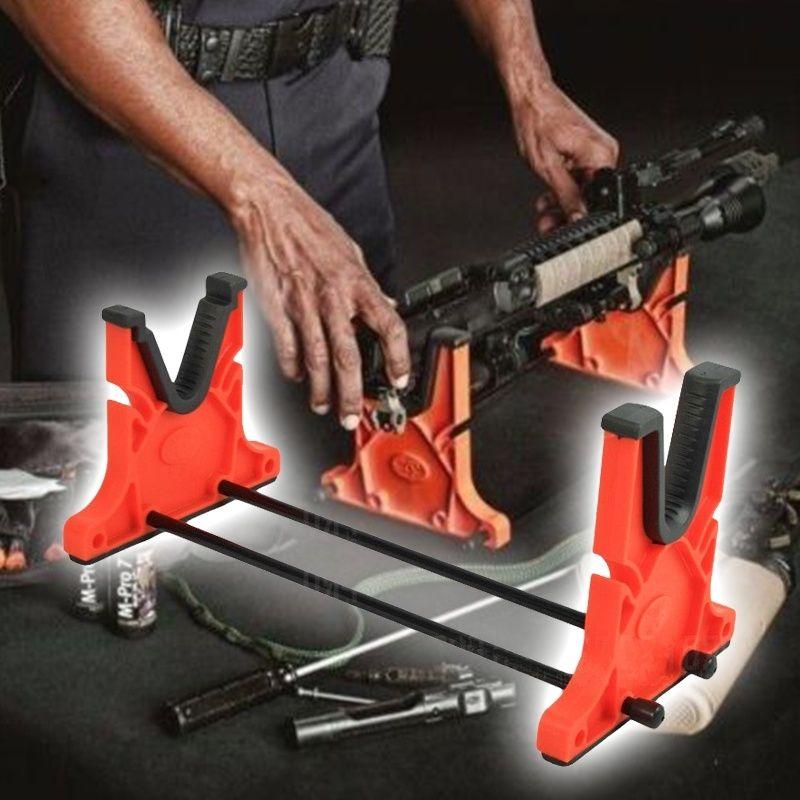 Waffenreinigung Cradle Maintenance Cradle Rifle Schrotflinte Gun Smith Bank Rest Ständer für die Reinigung von orange Farbe