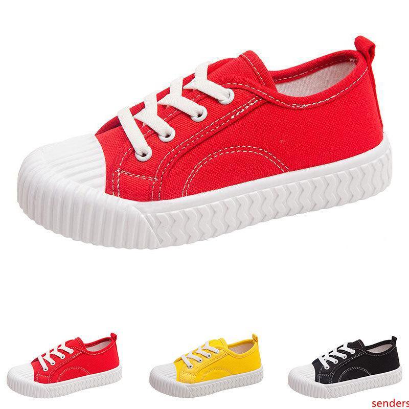 Sıcak Sonbahar yeni çocuk kanvas ayakkabılar kız erkek nefes rahat şeker renk çocuk bisküvi ayakkabı boyutu 21-33