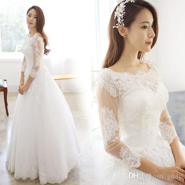 nova chegada Sexy A-Line vestido de casamento elegante do casamento Vestidos Vestido de Noiva vestido robe de mari de noivaee