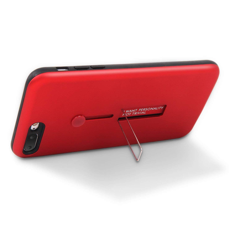 2019 Coque IPhone 7 Plus Avec Poignée Invisible Pour Anneau Support De Support De Béquille Intégré Mat Couverture Rigide PC Couverture Multi F ...