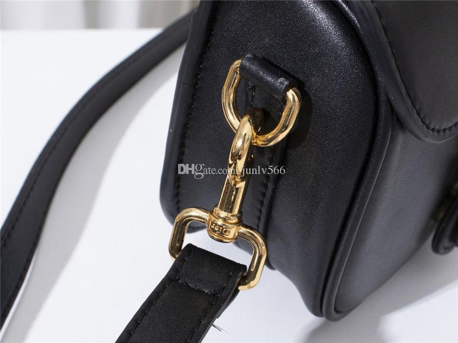 Schulterdame Frauen Mode Handtasche 2021 Gestickte Taille Blau Taschen Messenger Satteltasche Brief Neue Mädchen Taschen Schwarze Tasche CJIAL