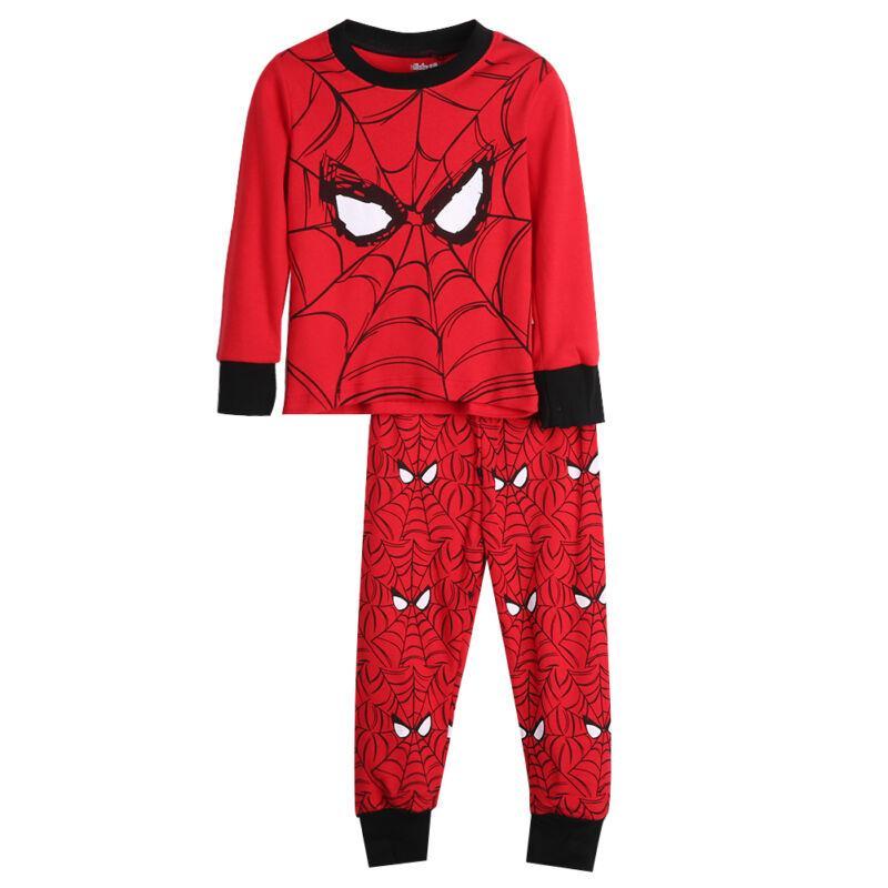 Imcute New Baby Мода Дети мальчиков Человек-паук Топ футболка + брюки Outfit пижама пижамы пижамы Установить
