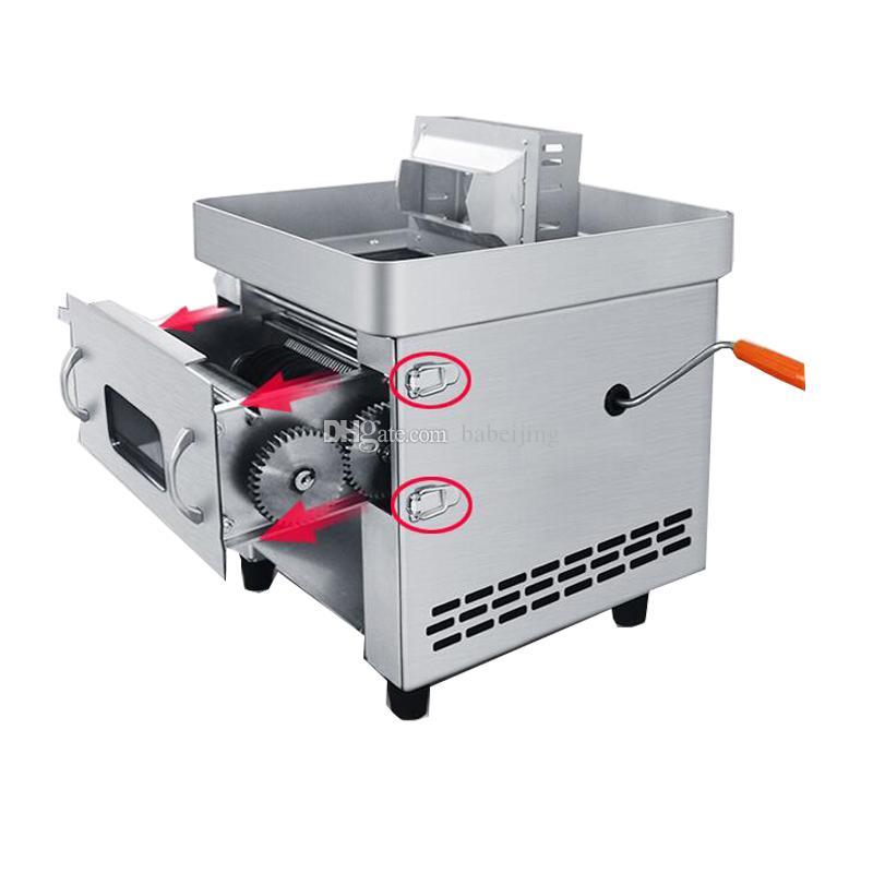 Petit électrique manuel à double usage Viande Cutter Machine Pull-Out lame Shred Slicer Machine De Découpe commerciale Trancheuse à viande machine