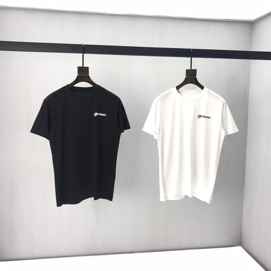 2020ss printemps et en été nouveau T-shirt panneau col rond manches courtes en coton impression de haute qualité Taille: m-l-TG-TTG-XXXL Couleur: blanc noir q45A