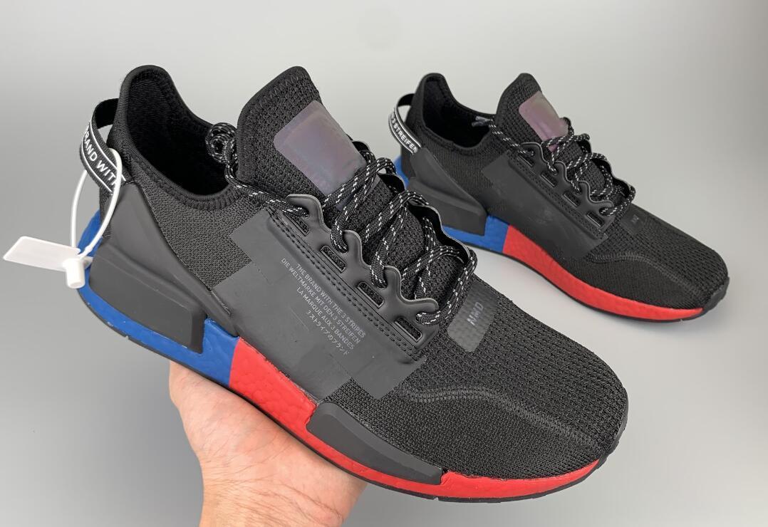 New 2020 Nmd R1 V2 Japan Iridescent Runnig Shoes Triple Black