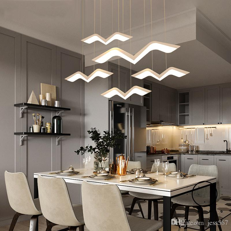 Hanging Deco DIY Modern Led Pendant Lights For Dining Room Kitchen Room Bar  Suspension Luminaire Suspendu Pendant Lamp Rectangular Pendant Light ...