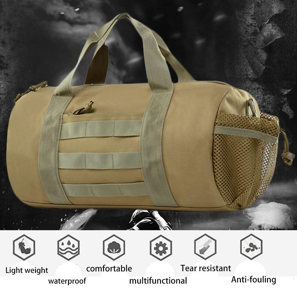 Sac à dos en plein air Sport Camouflage Armée fans alpinisme sur l'emballage Pied Paquet tambour Attaque Sac à dos Tactic extérieur T191104