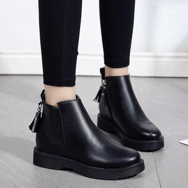 Short Flat Boots For Women