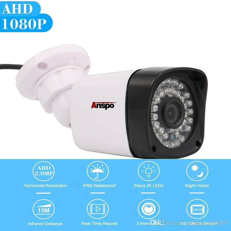 ANSPO 1080P AHD CCTV كاميرا نظام الأمن 2.0MP في للرؤية الليلية في الهواء الطلق مراقبة المنزل IP65 ماء dvr كاميرا كاميرا استبدال