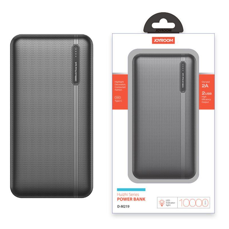 JOYROOM 10000mAh Power Bank D-M219 Портативный внешний аккумулятор Быстрая зарядка POWERBANK зарядное устройство для iPhone 11 Samsung S20