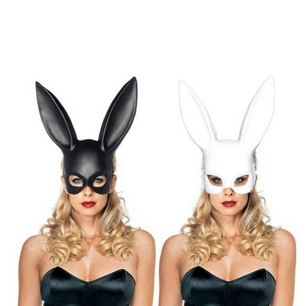 1pc Mode Femmes Fille Party Oreilles Masque Cosplay Costume Noir Blanc mignon drôle de Halloween Masque Décoration