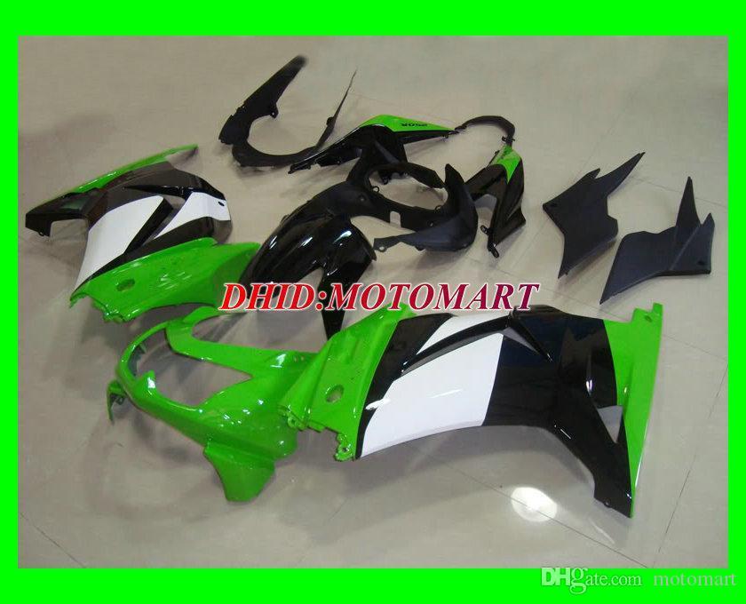 vert noir blanc kit de carénages pour KAWASAKI Ninja ZX ZX250R 250R 2008 2010 2012 EX250 08 09 10 11 12