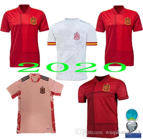 2020 Spanien Jersey Hauptfußball Jersey 2021 Kit entfernt Paco Alcácer ASENSIO MORATA ISCO INIESTA SAUL Männer Sport-Fußball-T-Shirt