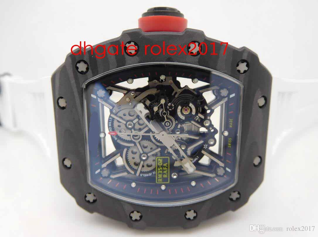 Мужские лучшее качество Лучший продавец KV Factory Top Edition RM035-02 Rafael Nadal Японская Miyota 8215 Движение кованые Углеродные Спортивные Услуги Наручные часы