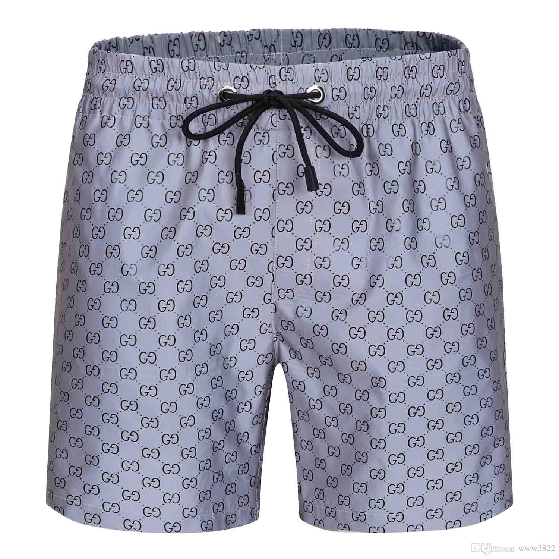 Nuoto uomini di Beach Summer Style bicchierini degli uomini di modo del commercio all'ingrosso 2020SS casuale puro Tavola a colori Shorts Pantaloncini sportivi