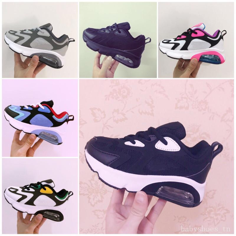 Nike Air Max 200 Bebês Crianças correndo Shoes Men Almofada de Formação Plastic meninos sapatas da juventude das meninas ao ar livre Crianças Running Shoes Sneakers
