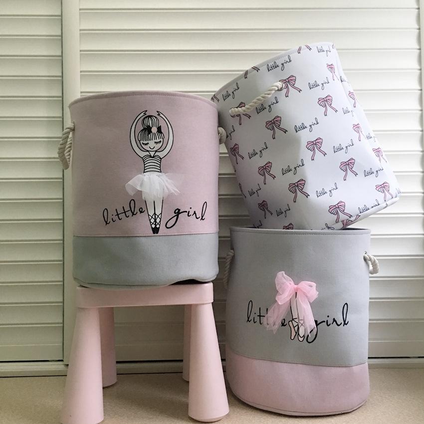 Dobrável cesta de lavanderia para Dirty roupas brinquedos lona transp grande cestas crianças bebê para casa lavar saco Organizador SH190923