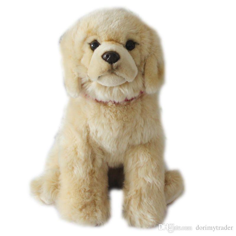 Simulación animal de calidad Labrador Retriever cachorro de mini muñeco de peluche de juguete de felpa perro para regalo de los niños DY50753 decoración 32cm