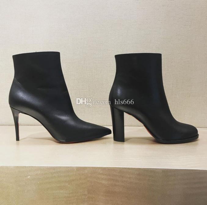 Diseñado lujo Cate cargadores para las mujeres, señoras inferiores rojas Sole botas del tobillo de Cadenas paltform talones Adox / Eloise botín invierno Marca de arranque