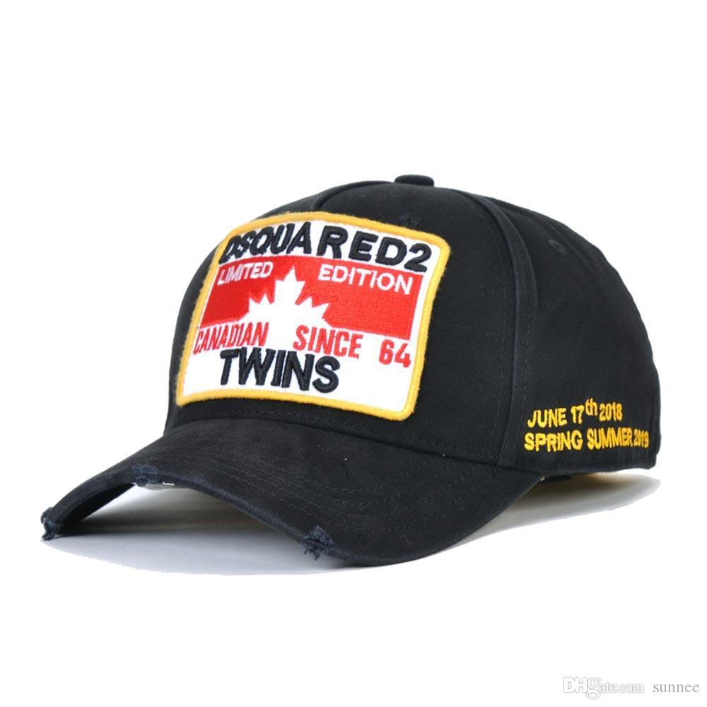 الرياضة في الهواء الطلق رسالة مطرزة قبعة قبعة بيسبول القطن الأوروبية والأمريكية DSQICOND2 للرجال والنساء الرياضة في الهواء الطلق Snapbacks