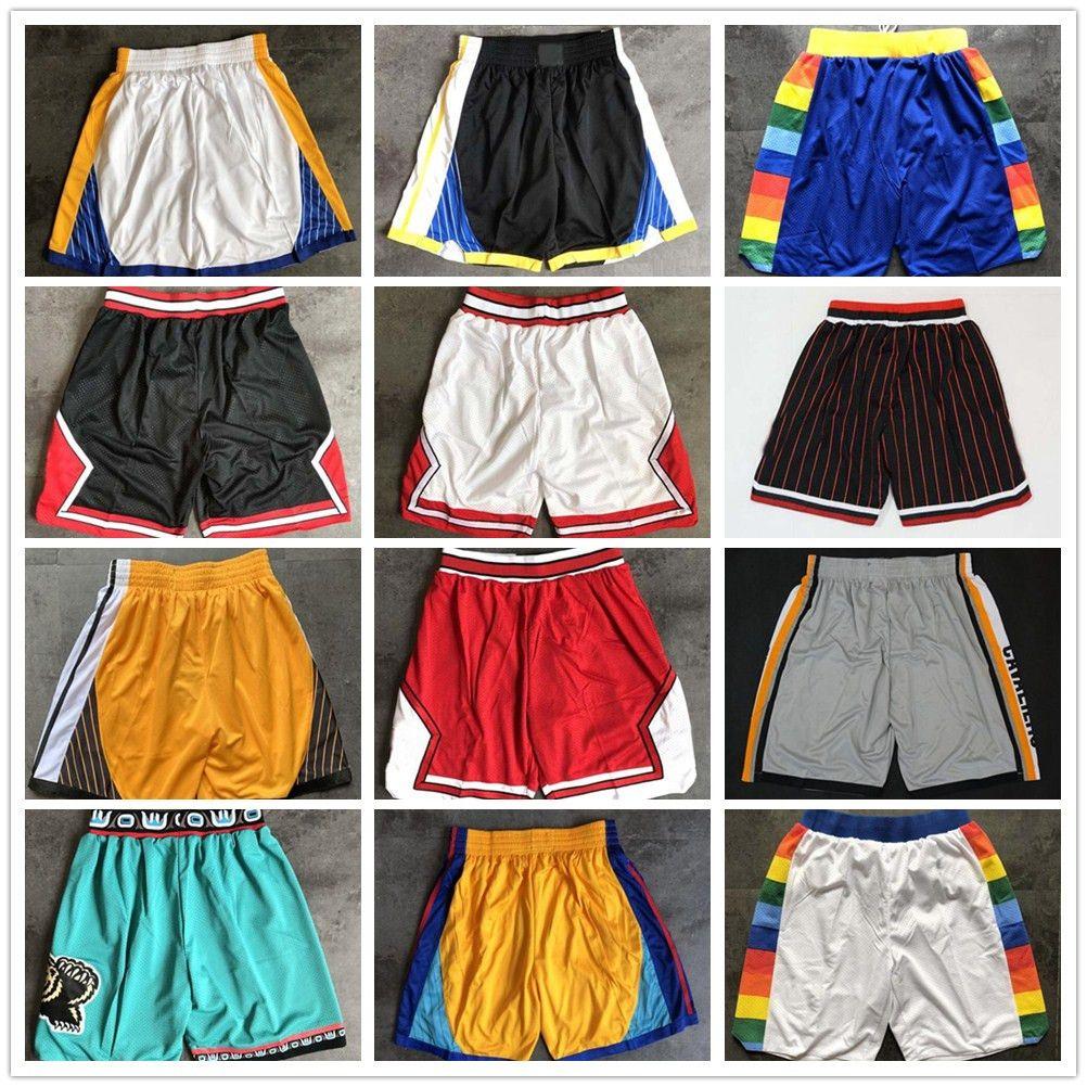 Qualité supérieure ! 2020 Team Basketball Shorts Hommes Shorts Pantaloncini Da Panier Sport Sport Pantalons Collège Blanc Black rouge violet vert