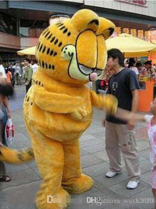 Drop neue Produkte Plüsch Versand (plus Plüsch Absatz) Cartoon-Figur-Kostümmaskottchen Garfield