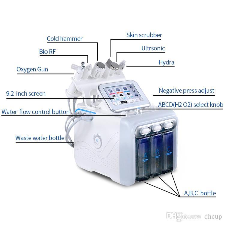 6. 1 oksijen terapisi yüz mikrodermabrazyon hidro makinesi cilt beyazlatma kristal mikrodermabrazyon Güzellik Cihazı sıkma