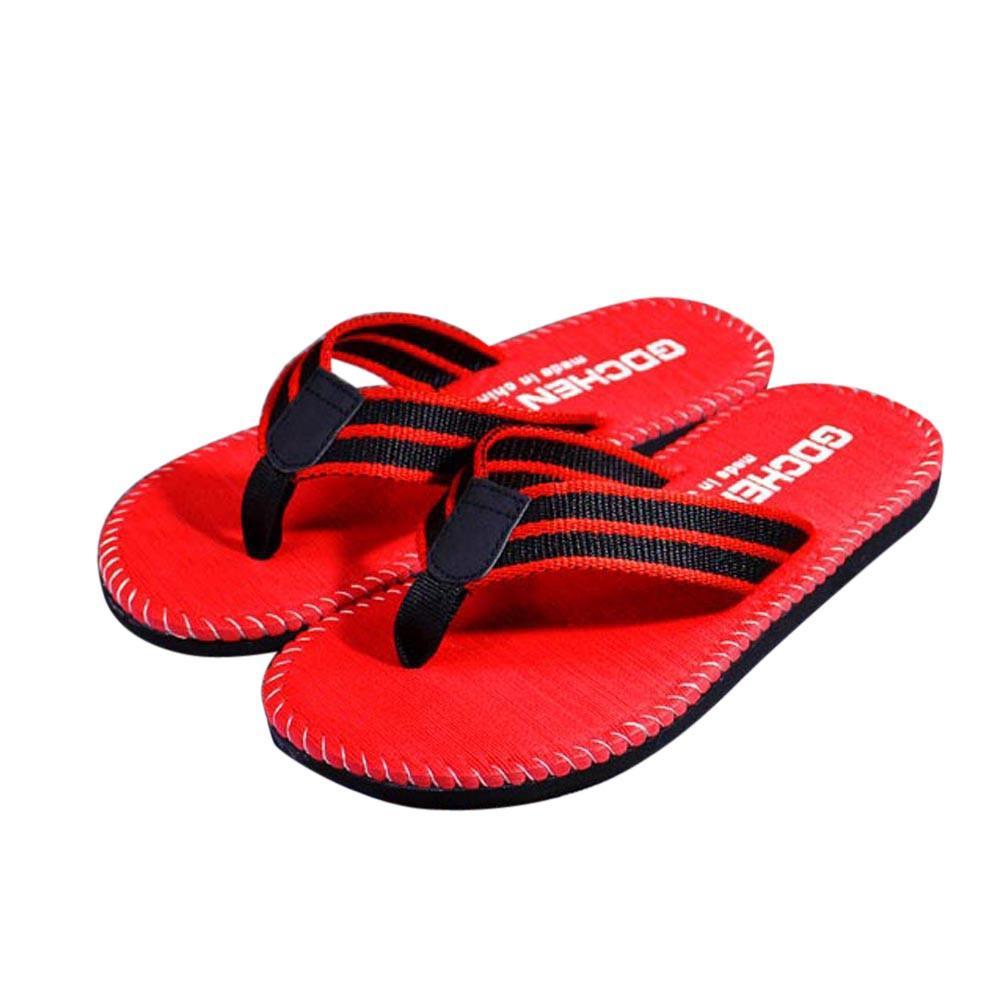 La nueva llegada de los hombres raya del verano de las chancletas Zapatos Sandalias Hombre Zapatilla flip-flops zapatos de las sandalias de playa de moda para hombres al por mayor
