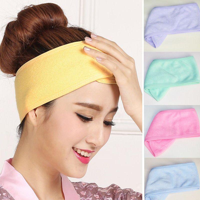 Kadın Spa Banyo Duş Yıkama Yüz Elastik Kafa Türban Bayanlar Kozmetik Yoga Kafa Kumaş Havlu Bandana Makyaj Tiara Saç Bandı