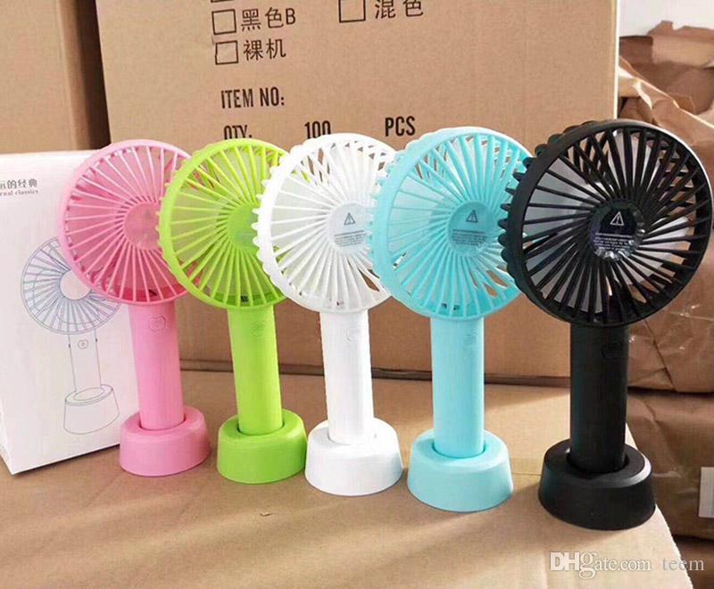 SS12 Mini Ventilador Portátil Multifuncional USB Recarregável Crianças Mesa Fan LED Light 18650 Bateria Ajustável de 3 Velocidade para Crianças Ao Ar Livre Indoor