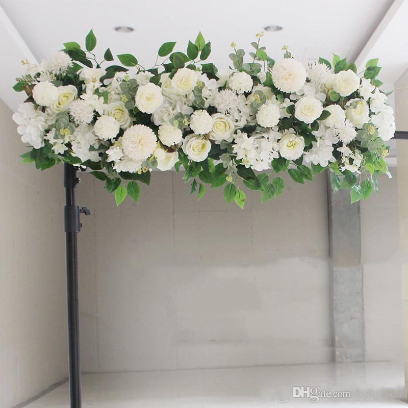Upscale-Kunstseide-Pfingstrosen-Rosen-Blumen Reihe Zusammenstellung Zubehör für Hochzeit Bogen Kulisse MITTELSTÜCK- DIY Supplies