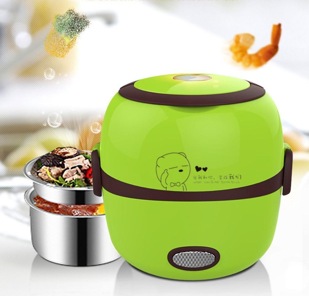 MINI Rice Cooker Chauffage électrique thermique Boîte à lunch 2 couches vapeur portable Alimentation cuisine Conteneur repas chaud Lunchbox
