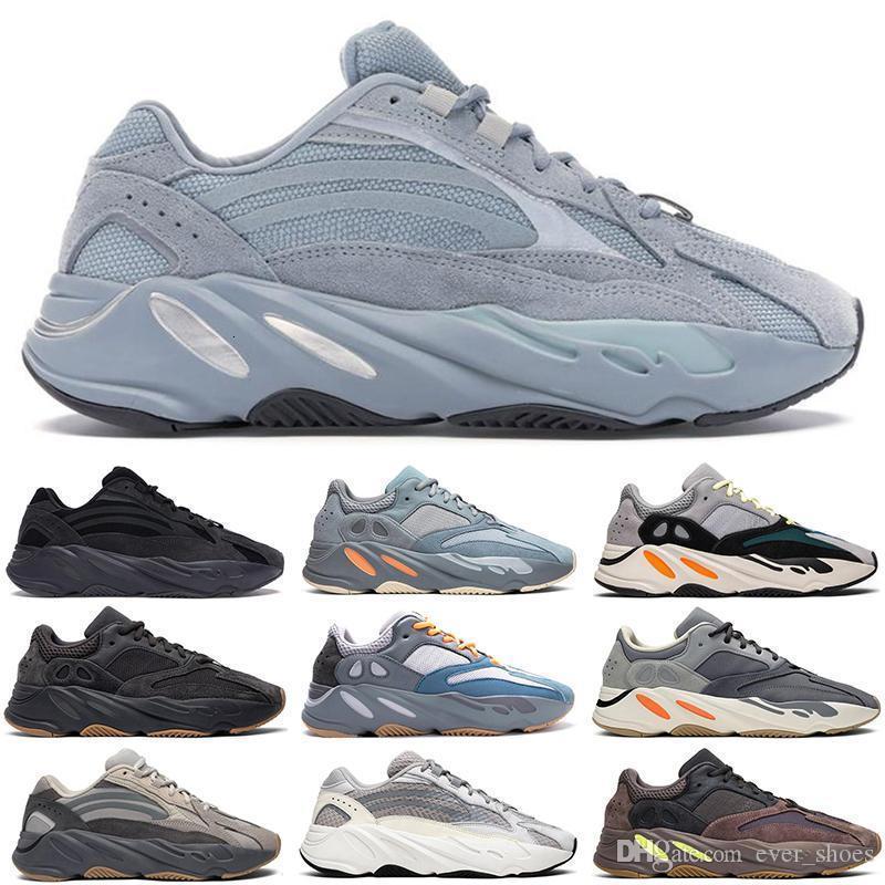 Novo hospital azul 700 V2 Inércia corredor da onda Homens Mulheres estática Vanta Geode Designer Sneakers Magnet Tephra Kanye West Esporte Atletismo Shoes