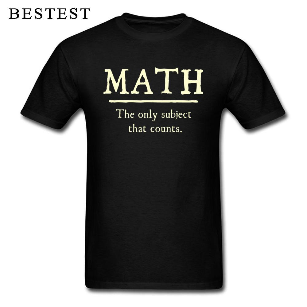 Estudiantes camiseta Hombres Friki Camiseta Matemáticas El único tema que cuenta Escuela divertida Diciendo Camisetas 2019 Adultos Ajax Camisetas Nerd Tops