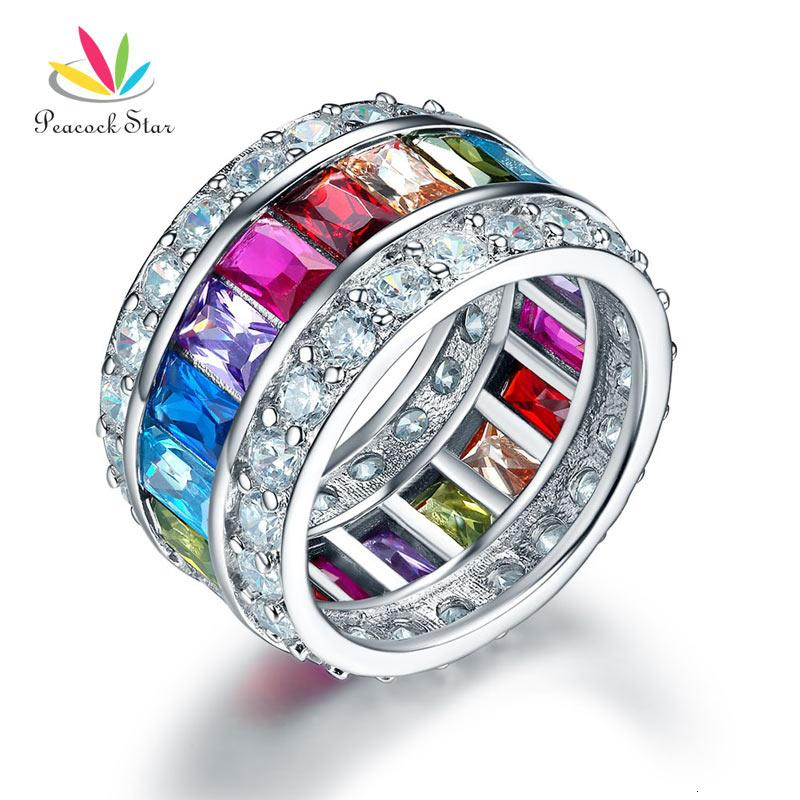 Solid 925 Sterling Silver Multi Gemstone Flower Ring Size-7 /'